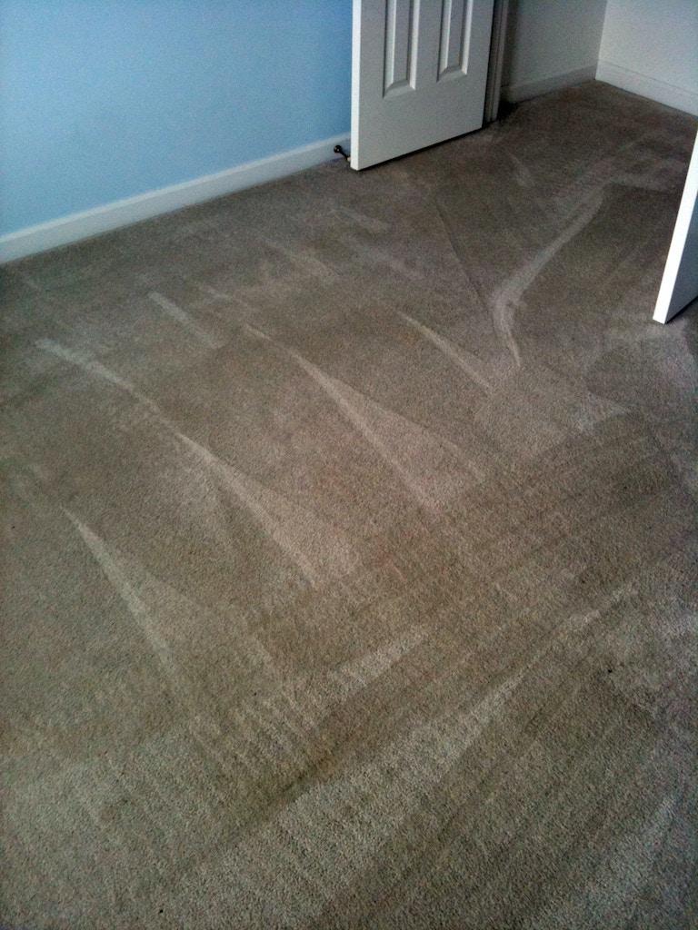 bedroom carpet after