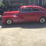 49 Chevrolet Fleetline-side_vintage-car-muffler-brake-service