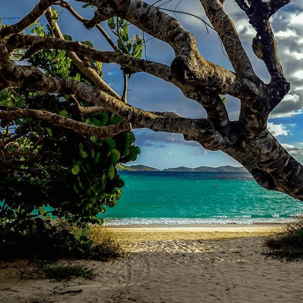 Lindquist Beach scene
