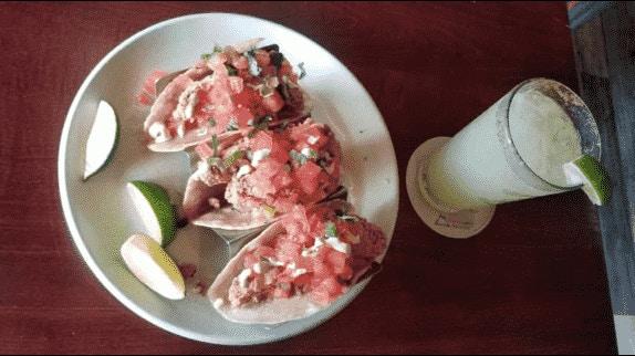Greengos St. John USVI taco lunch margarita